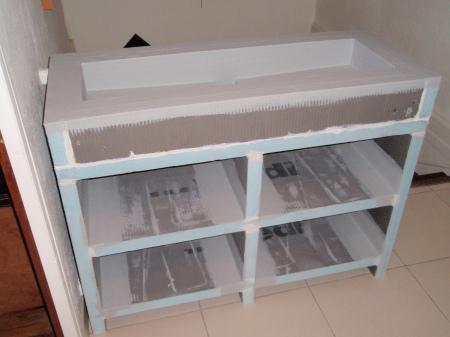Fabriquer une vasque karkace - Placo hydrofuge cuisine ...